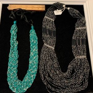Jewelry - Two beaded necklaces new from India seed beads